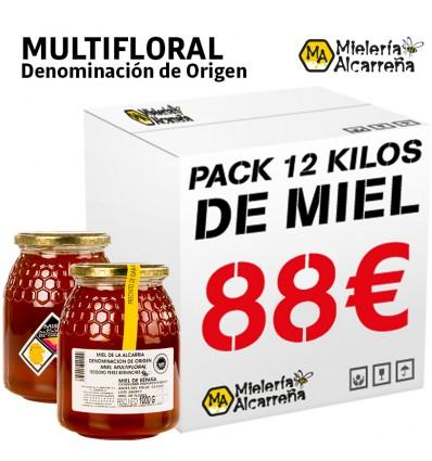 PACK 12 KG MIEL DENOMINACIÓN DE ORIGEN MULTIFLORAL