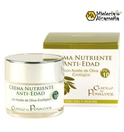 Crema antiedad aceite oliva fps 10. 50 ml