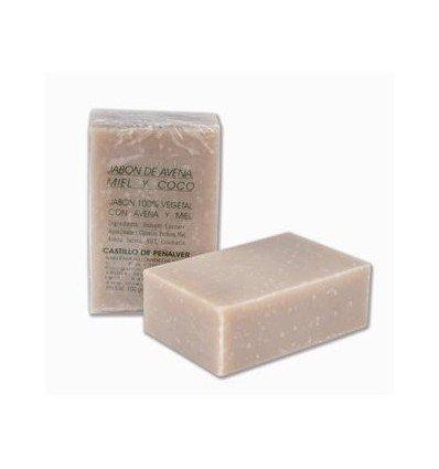 Jabón de avena y miel con esencia de coco 100gr